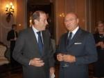 Paolo Bellini e l'Ambasciatore Vittorio Surdo in un recente incontro in Ambasciata d'Italia a Mosca